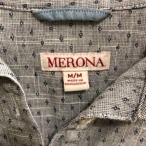 Merona Tops - Merona Gray Button Collared Tunic   Medium